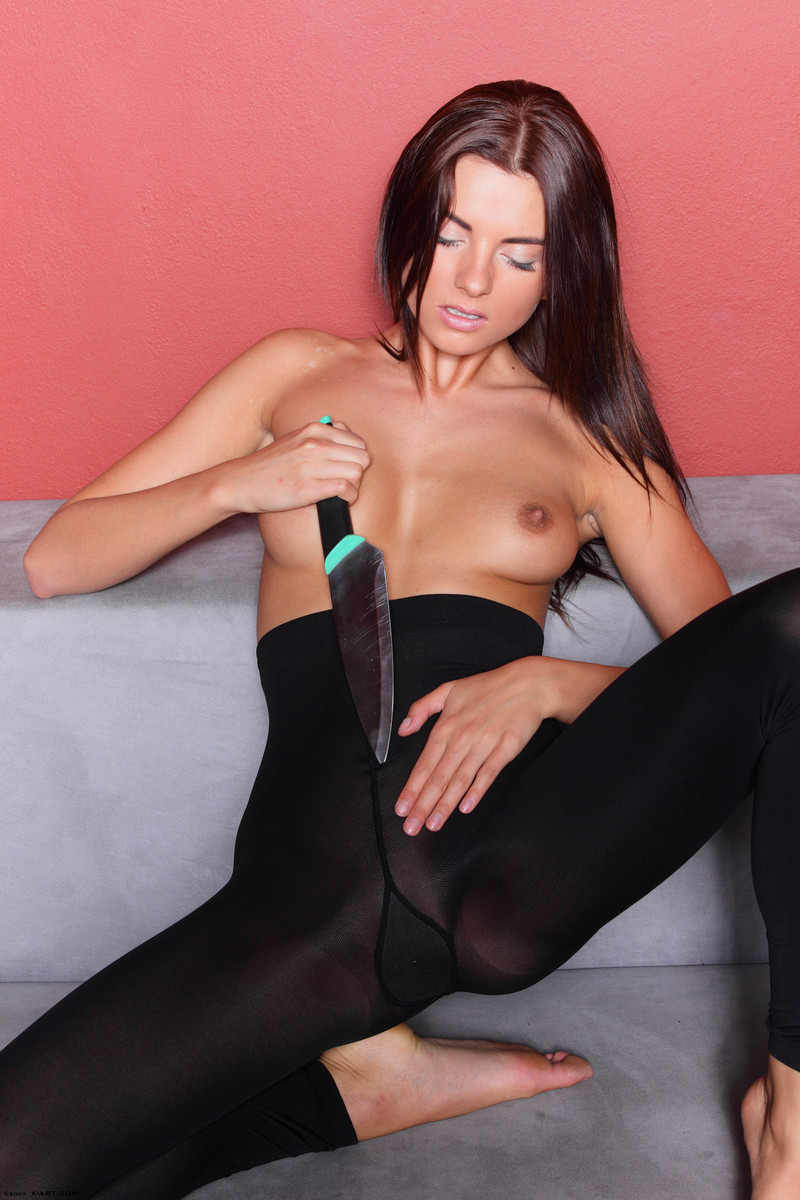 Hot Dangerous And Sexy Teen In Ripped Pantyhose - Teens In Stockings-9800