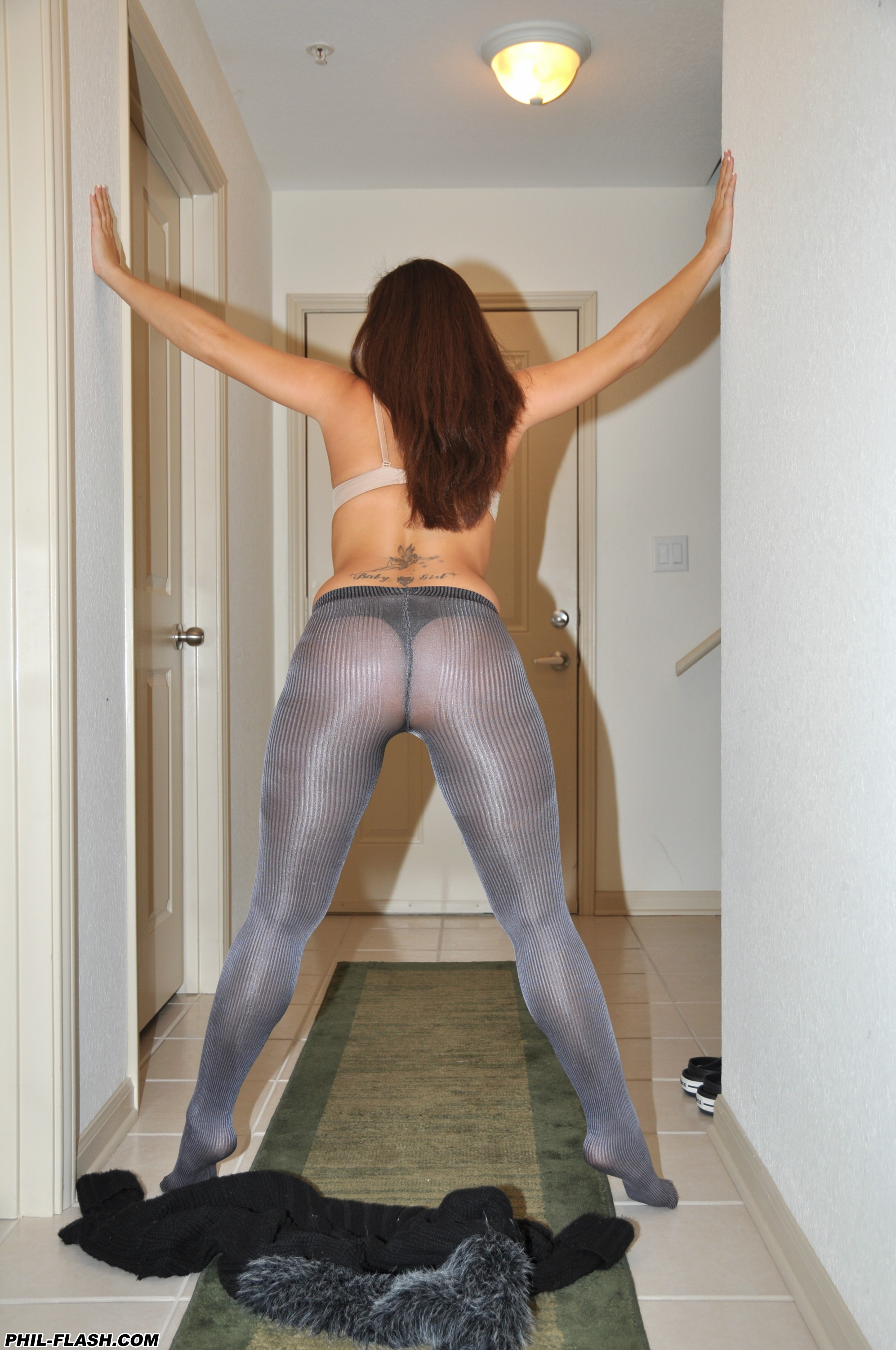 Girl named pantyhose very much